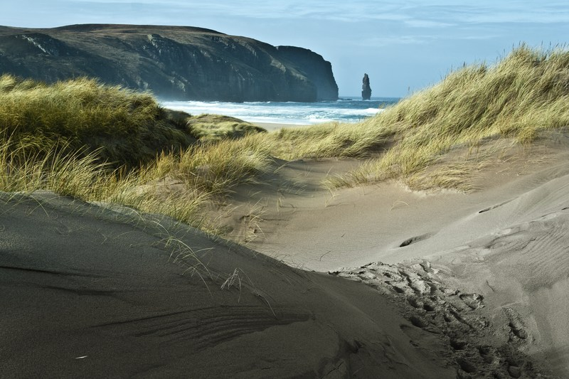 Stunning beach at Sandwood Bay in the Noerth Highlands of Scotland